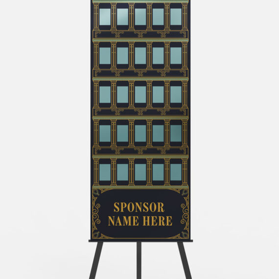 Gift card board designed with classic New Orleans French Quarter architecture in mind