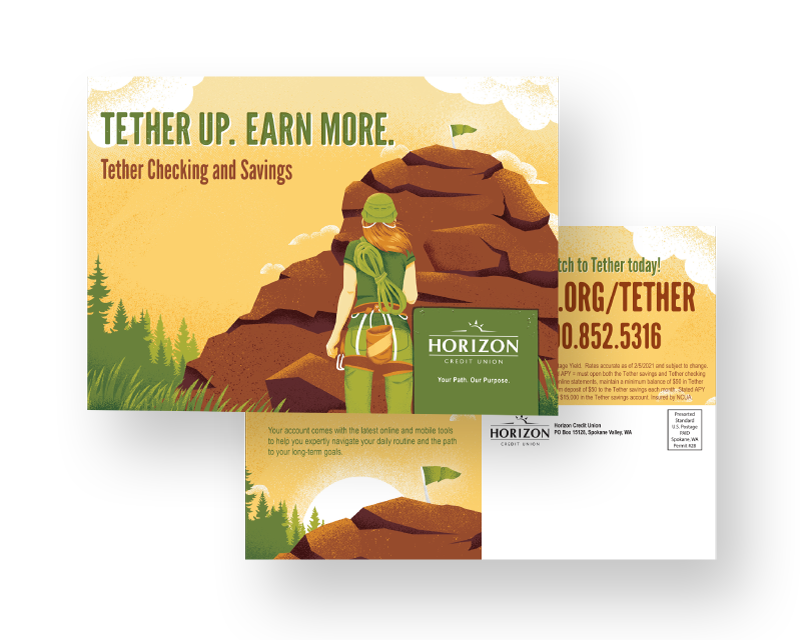 Tether Campaign Postcard